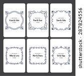 set of 6 wedding invitation... | Shutterstock .eps vector #287824556