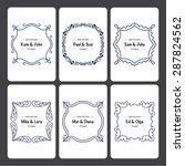 set of 6 wedding invitation... | Shutterstock .eps vector #287824562