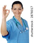 attractive lady doctor over a... | Shutterstock . vector #2878317