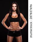 beautiful fit woman | Shutterstock . vector #287837696