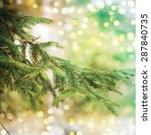 closeup of christmas tree | Shutterstock . vector #287840735