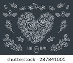the set of decorative floral...   Shutterstock .eps vector #287841005
