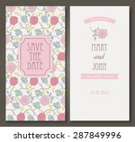 vintage vector card templates.... | Shutterstock .eps vector #287849996
