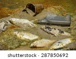 fish die due to water pollution ... | Shutterstock . vector #287850692