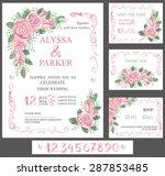 vector wedding  watercolor...   Shutterstock .eps vector #287853485