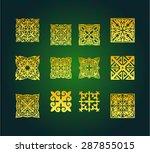 muslim islamic art borders and... | Shutterstock .eps vector #287855015