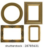 collection picture gold frame... | Shutterstock . vector #28785631