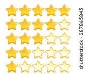 yellow star rating set | Shutterstock .eps vector #287865845