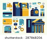 set of vector modern trendy... | Shutterstock .eps vector #287868206