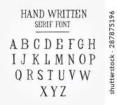 hand written serif font | Shutterstock .eps vector #287875196