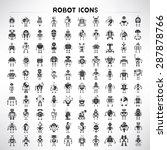 robot icons set  big set vector ... | Shutterstock .eps vector #287878766