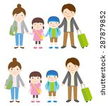 family trip   spring and autumn | Shutterstock .eps vector #287879852