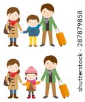 family trip   winter | Shutterstock .eps vector #287879858