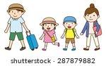 family trip   summer | Shutterstock .eps vector #287879882