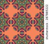 seamless pattern ethnic style....   Shutterstock .eps vector #287885222