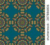 seamless pattern ethnic style....   Shutterstock .eps vector #287886806