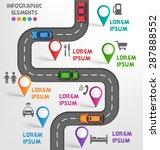 road infographic travel...   Shutterstock .eps vector #287888552