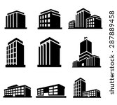 buildings icons vector | Shutterstock .eps vector #287889458