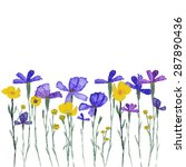 wildflowers isolated on white... | Shutterstock .eps vector #287890436