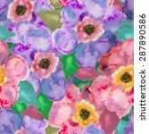 seamless pattern with flowers... | Shutterstock .eps vector #287890586