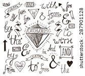 vector hand lettered  hand... | Shutterstock .eps vector #287901128