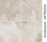 four different marble texture.  | Shutterstock . vector #287902262