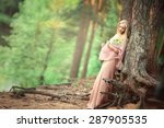 beautiful pregnant woman with... | Shutterstock . vector #287905535