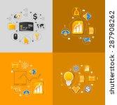 set of sticker design. high... | Shutterstock .eps vector #287908262