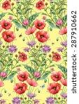 wild flowers. persian... | Shutterstock . vector #287910662