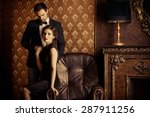 beautiful man and woman in... | Shutterstock . vector #287911256