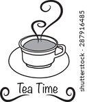 tea time   Shutterstock .eps vector #287916485