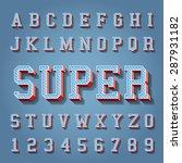 vintage vector set of... | Shutterstock .eps vector #287931182