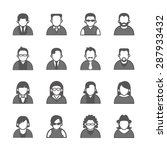 people icons. vector... | Shutterstock .eps vector #287933432