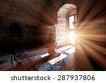 young muslim woman praying in... | Shutterstock . vector #287937806