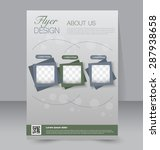 flyer template. business... | Shutterstock .eps vector #287938658