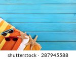 summer beach vacation  couple... | Shutterstock . vector #287945588