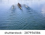 Boat Coxed Eight Rowers Rowing...