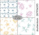set of seamless pattern... | Shutterstock .eps vector #287956595
