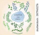 set of hand made watercolor...   Shutterstock .eps vector #287963276