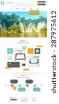 flat modern website template ...