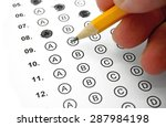 filling out answers on a... | Shutterstock . vector #287984198