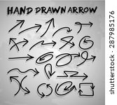 vector hand drawn arrow set.... | Shutterstock .eps vector #287985176
