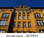 old apartment building in berlin - stock photo