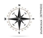 compass with shadow on white... | Shutterstock . vector #287994032