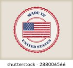 made in usa.grunge rubber stamp.... | Shutterstock .eps vector #288006566