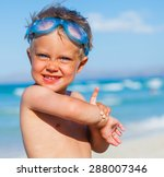 portrait of playful boy in... | Shutterstock . vector #288007346