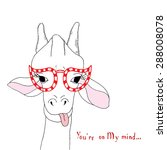 giraffe card  | Shutterstock .eps vector #288008078