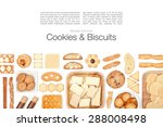 cookies and biscuits on white... | Shutterstock . vector #288008498