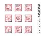 one day sale  set of grunge... | Shutterstock .eps vector #288025982