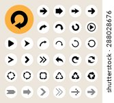 basic arrow sign icons set. | Shutterstock .eps vector #288028676